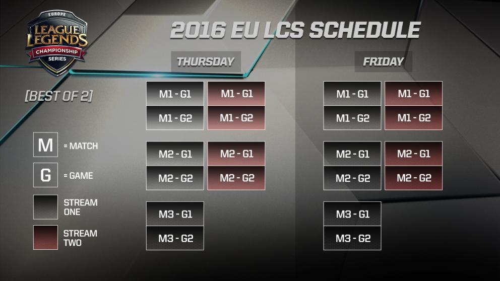 2016 eu lcs schedule
