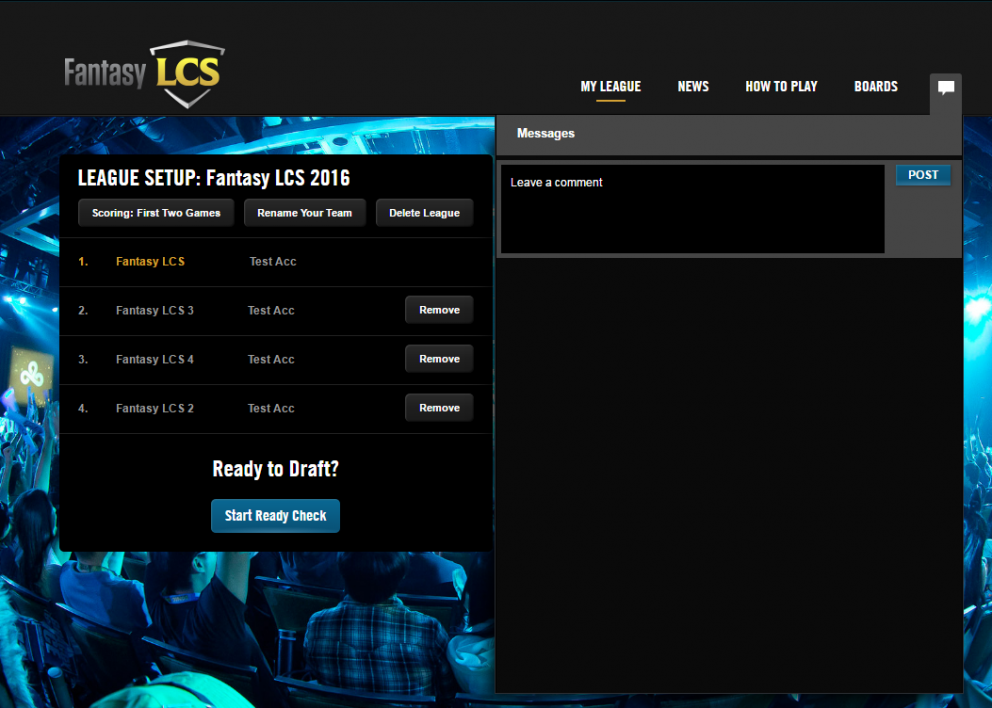 how to start lcs draft