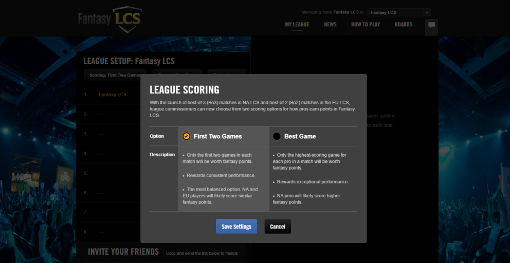 Fantasy lcs changes for the 2016 summer split lol esports fantasy lcs aficionados have been asking one question since we announced the na and eu lcs format changes last year how will fantasy lcs scoring work stopboris Gallery