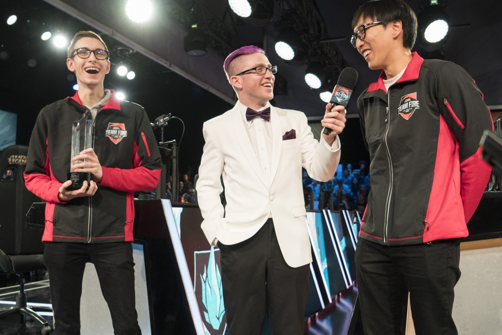 NA All-Stars Doublelift and Bjergsen played against one another in the  Finals, after Doublelift took down Froggen in the Semifinals.